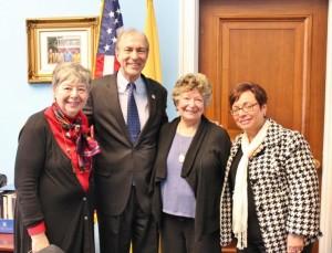 With Congressman Scott Garrett on the Hill. L-R Roz Altman, Congressman Scott Garrett, Gladys Laden, Phyllis Betancourt