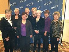 L-R Roz Altman, Carole Benson, Phyllis Betancourt, Ilene Wechter, Ellen Jacobs, Elaine Bieger, Shelly Winner, Gladys Laden